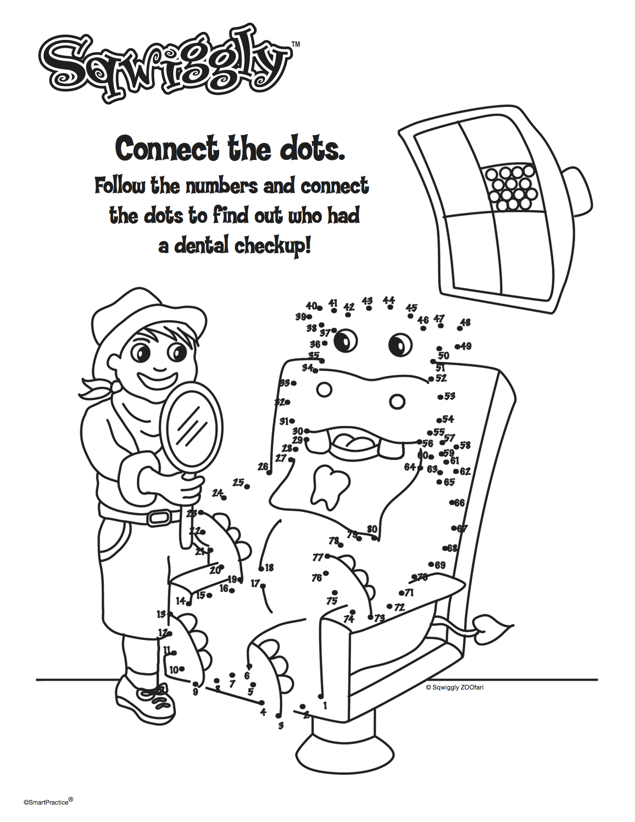 A dot connecting drawing for kids.